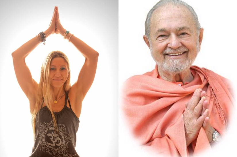Alessandra and Swami Kriyananda, direct disciple of Paramahansa Yogananda in the Kriya Yoga Lineage