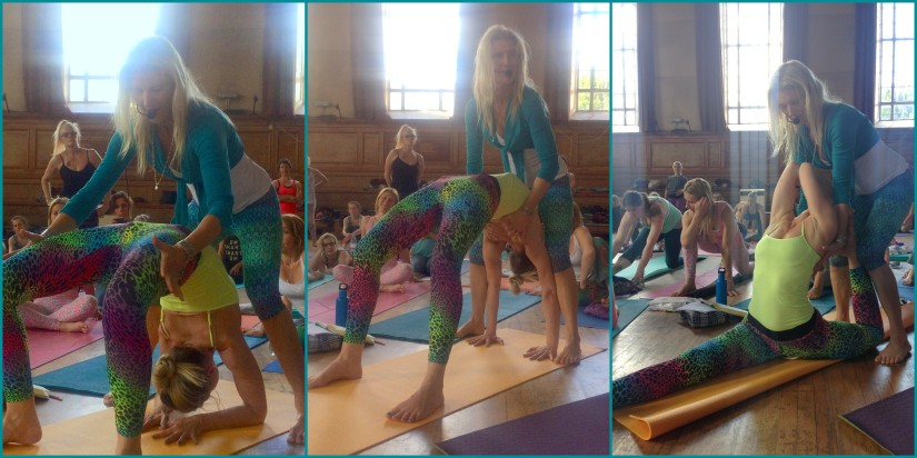 Alessandra with Shiva Rea @ Chakra Mantra Vinyasa, London 2015