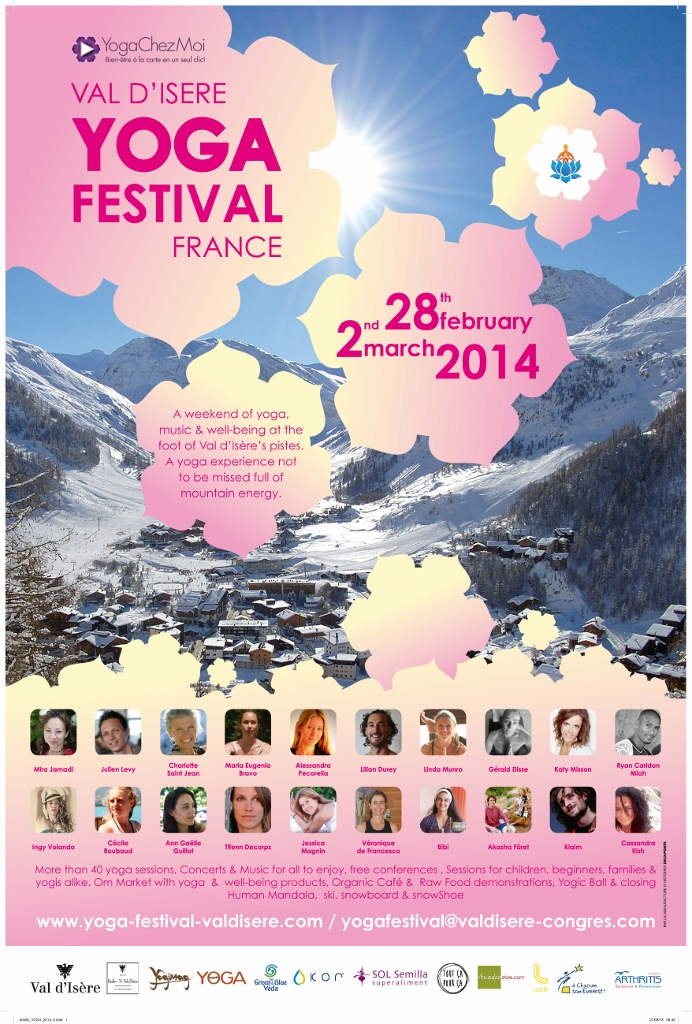 Yoga Festival VAl D'Isere 28 Febr - 2 March 2014