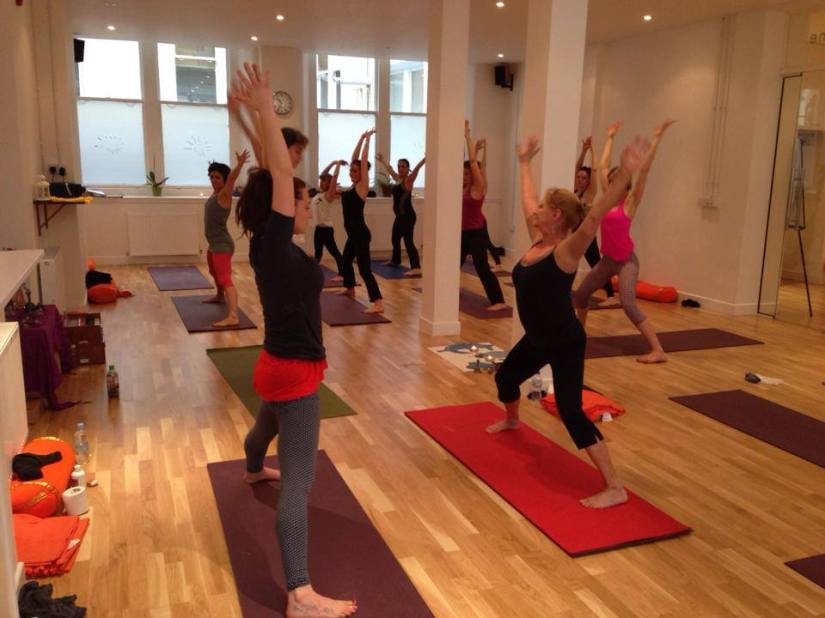 Teaching lab at Aditya Yoga School