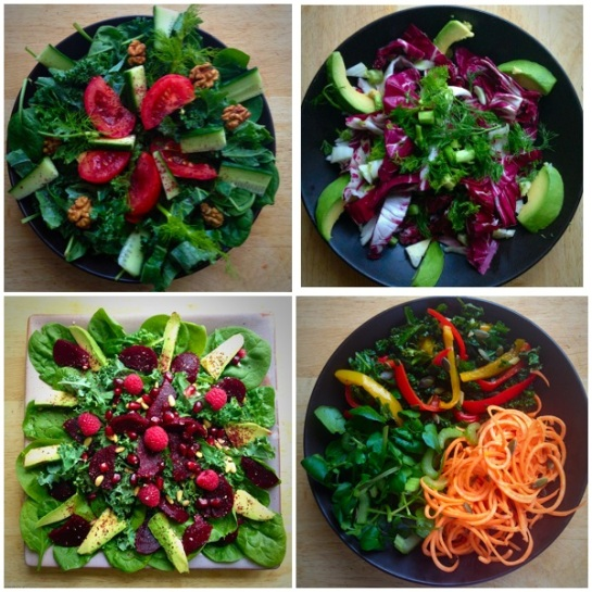 During the Sumemr months eat light, fresh and favour raw food like salads