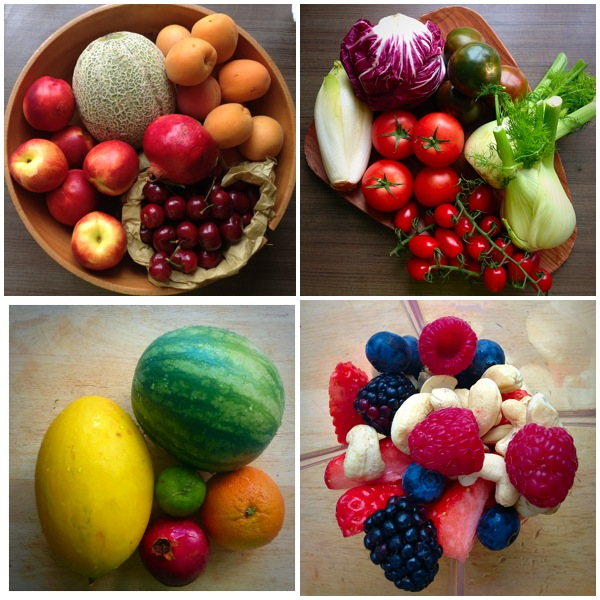 Summer Fruits and vegetables.